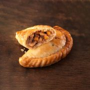Small steak Cornish pasty from Warrens Bakery
